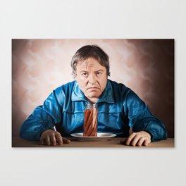 Junk food lover Canvas Print
