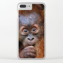 Extraordinary Animals - Orang Baby Clear iPhone Case