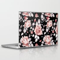 shabby chic Laptop & iPad Skins featuring Shabby Chic Rose by Madisyn Nicole