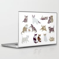 kittens Laptop & iPad Skins featuring Little Kittens by Yuliya