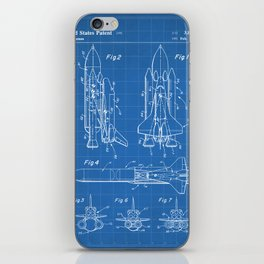 Nasa Space Shuttle Patent - Nasa Shuttle Art - Blueprint iPhone Skin