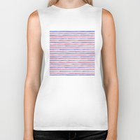 stripes Biker Tanks featuring Stripes.  by Elena O'Neill