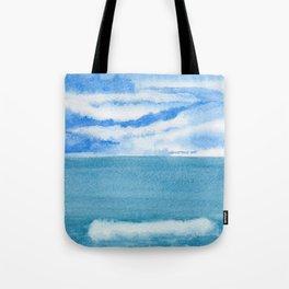 Lively Sky Wave Tote Bag