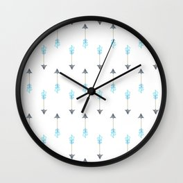 Blue Arrow Wall Clock