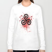 teen wolf Long Sleeve T-shirts featuring Triskele 2 by AlixInsanity