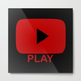 Play Button Metal Print