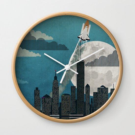 Rocket City Wall Clock