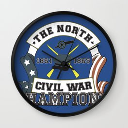 American Civil War Champions - Northern Pride - The Union - Parody Shirt Wall Clock