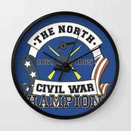 American Civil War Champions - Northern Pride - The Union - Parody Shirt Wall Clock