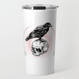 Valhalla Odin graphic Son of Odin raven - perfect gift Travel Mug