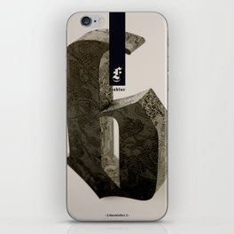 Blackletter iPhone Skin