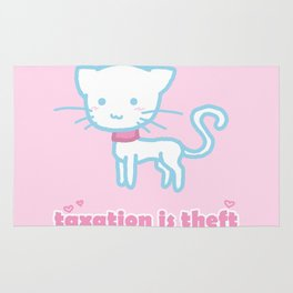 Taxation Is Theft Kitty Rug