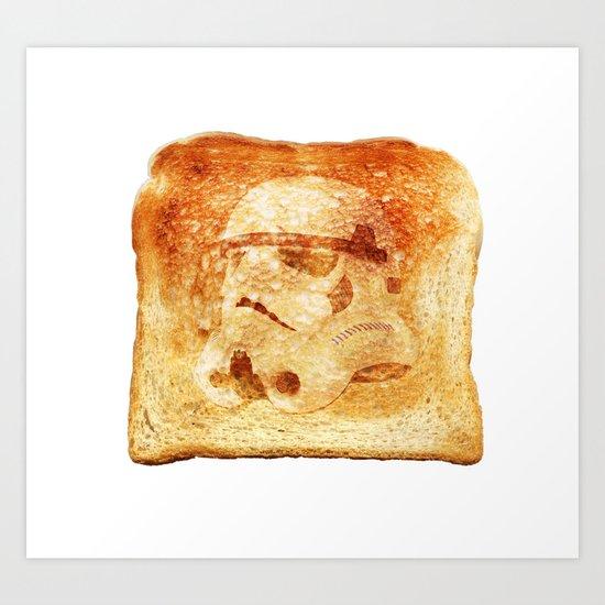 Stormtrooper Toast Art Print