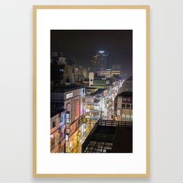 Daegu city streets Framed Art Print