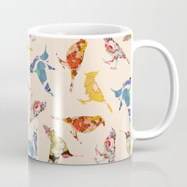 Vintage Wallpaper Birds Coffee Mug