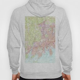 Stamford Connecticut Map (1987) Hoody