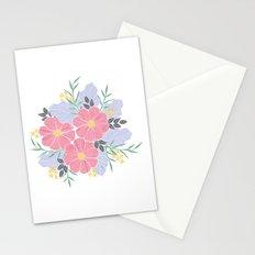 Vintage Pink Flowers Stationery Cards