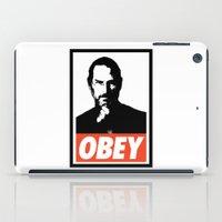 steve jobs iPad Cases featuring Obey Steve Jobs by Royal Bros Art