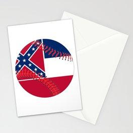 Mississippi Flag Baseball Stationery Cards