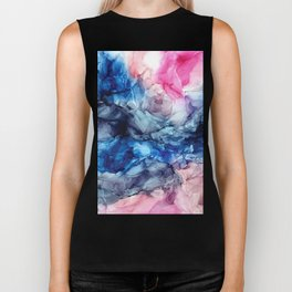 Soul Explosion- vibrant abstract fluid art painting Biker Tank
