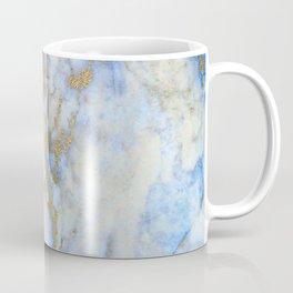 Gold And Blue Marble Coffee Mug
