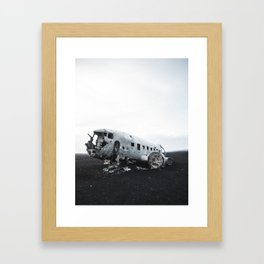 DC Plane Wreckage Framed Art Print