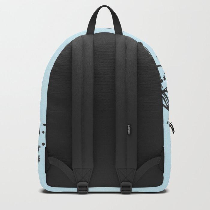 Rose on Blue Backpack