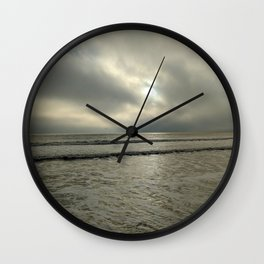 A Cloudy Beach Wall Clock