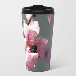 Unidentified Winged Insect On Peach Tree Blossom Travel Mug