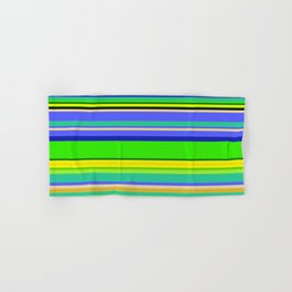 Color Stripes 2 - blue and green Hand & Bath Towel