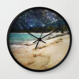 Midnight Beach Wall Clock
