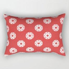 Poker Dots Rectangular Pillow