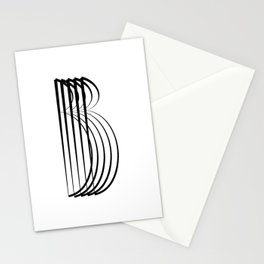""""""" Eclipse Collection"""" - Minimal Letter B Print Stationery Cards"""