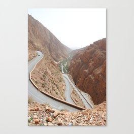 Todgha Gorge in the south of the High Atlas in Morocco Canvas Print