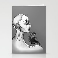 crow Stationery Cards featuring Crow by Sam Pea
