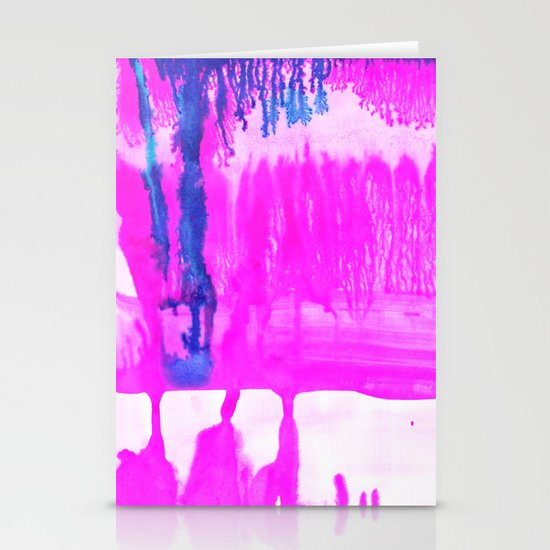 Dip Dye Hot Pink Stationery Cards