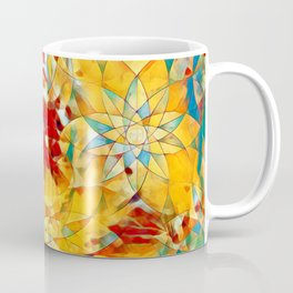 6759s-KMA The Woman in the Stained Glass Sensual Feminine Energy Emerging Coffee Mug