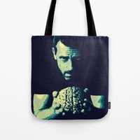house md Tote Bags featuring HOUSE MD by Bianca Lopomo