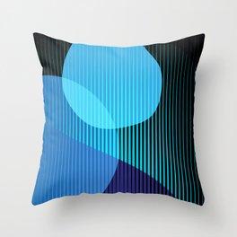 Blue Blobby Finger Fade Throw Pillow