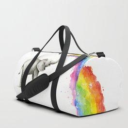 Rainbow Baby Elephant Duffle Bag