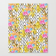 Patterned Bouquet II Canvas Print