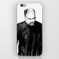 louis ck iPhone & iPod Skins featuring DARK COMEDIANS: Louis C.K. by Zombie Rust