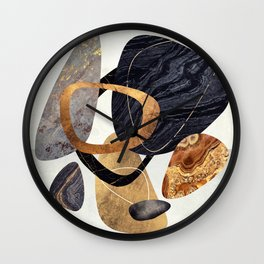 Abstract Pebbles III Wall Clock