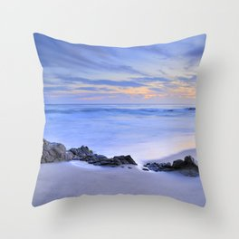 Monsul beach at sunset Throw Pillow