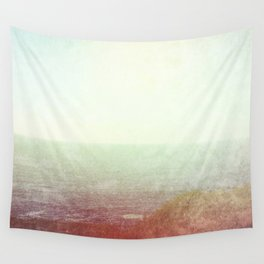 Abstract pastel mint green pink red summer nature landscape Wall Tapestry