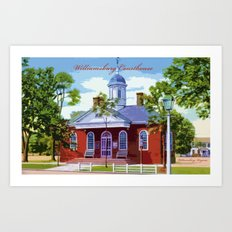 Williamsburg Courthouse Art Print