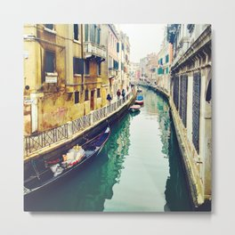 Gondola Waiting Metal Print