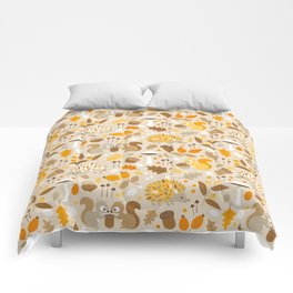 forest in fall Comforters