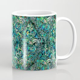 Persian Oriental pattern abalone and silver Coffee Mug