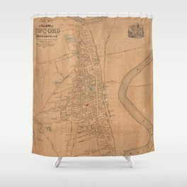 Vintage Map of Concord NH (1851) Shower Curtain